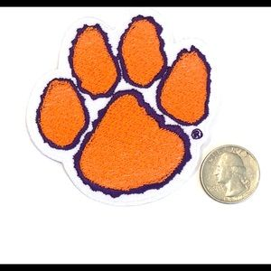 Clemson patch iron on football university DIY